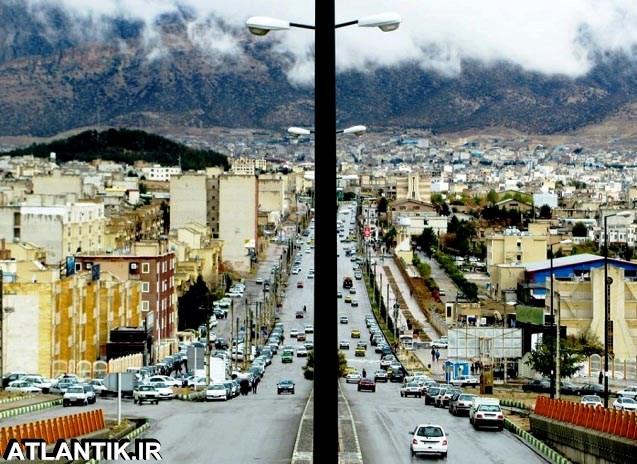 خیابان های بارانی شهر ایلام
