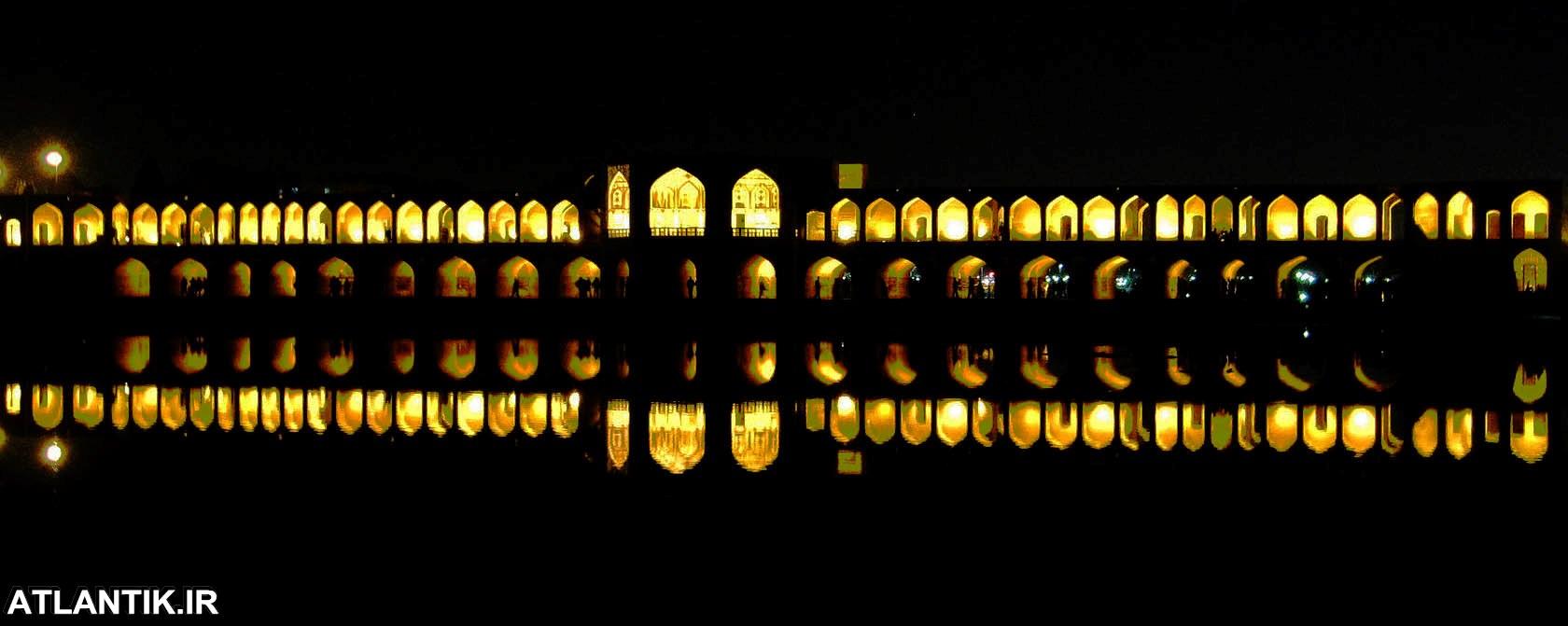 شب های پل خواجو اصفهان