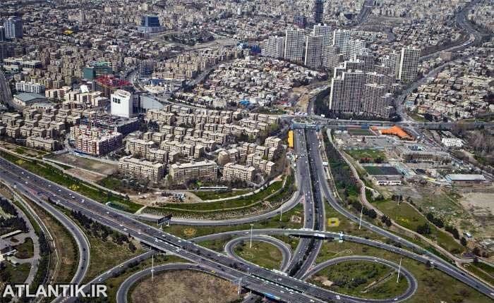 عکس هوایی تهران