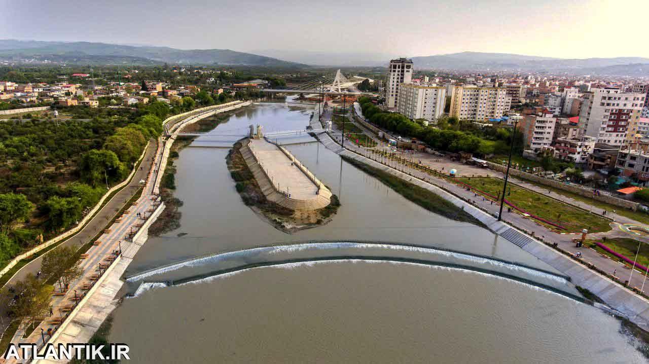 نمای رودخانه شهر ساری