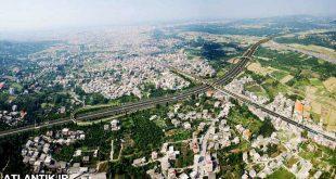 تصویر هوایی از طبیعت ساری مازندران