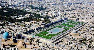 عکس هوایی از شهر بزرگ اصفهان