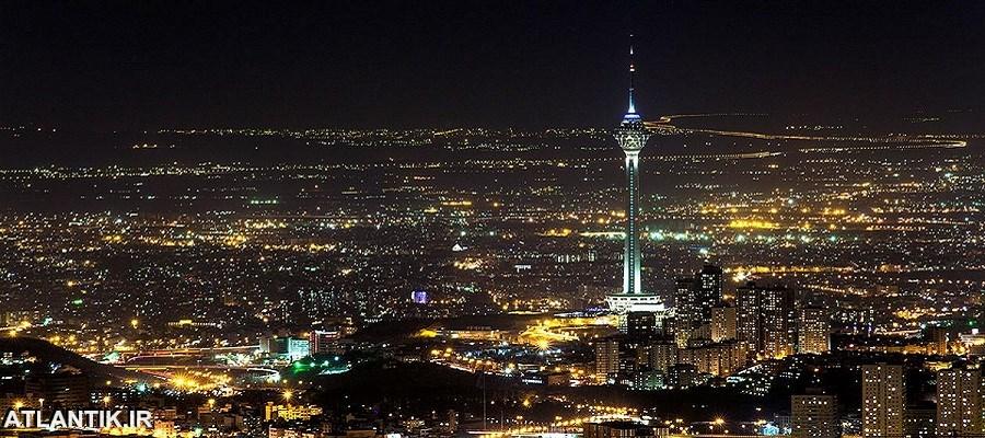 شب های شهر تهران در کنار برج میلاد