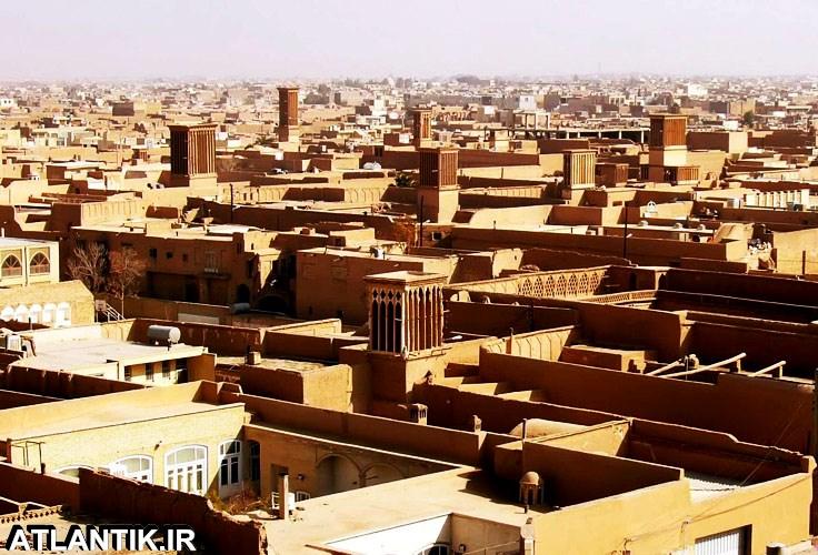 یزد شهر بادگیرهای بادی