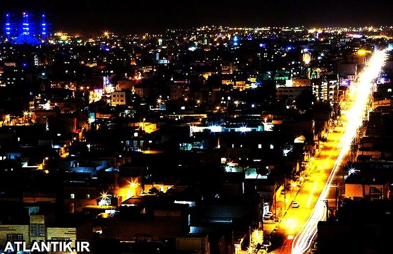 عکس هوایی از شب های آرام زاهدان