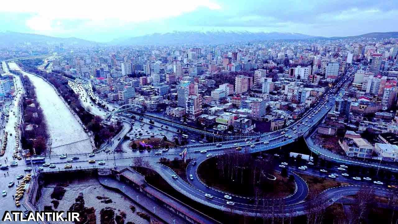 نمایی زیبا از آب و هوا و خیابان های شهر ارومیه