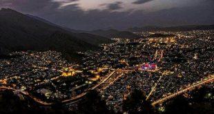شب زیبای شهر خرم آباد
