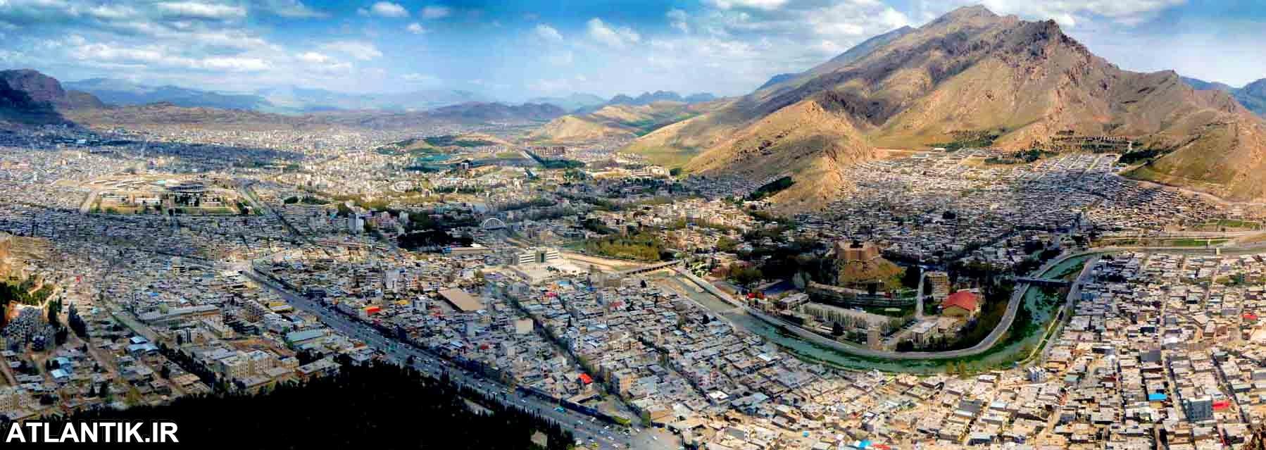 عکس هوایی شهر خرم آباد لرستان