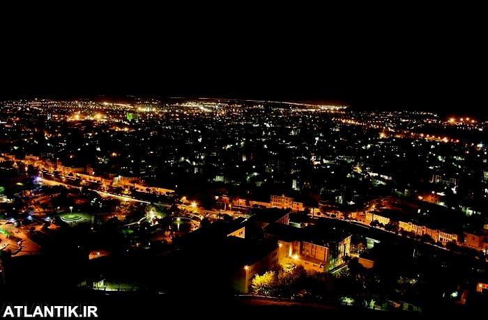 تصویر هوایی شب های شهر اراک