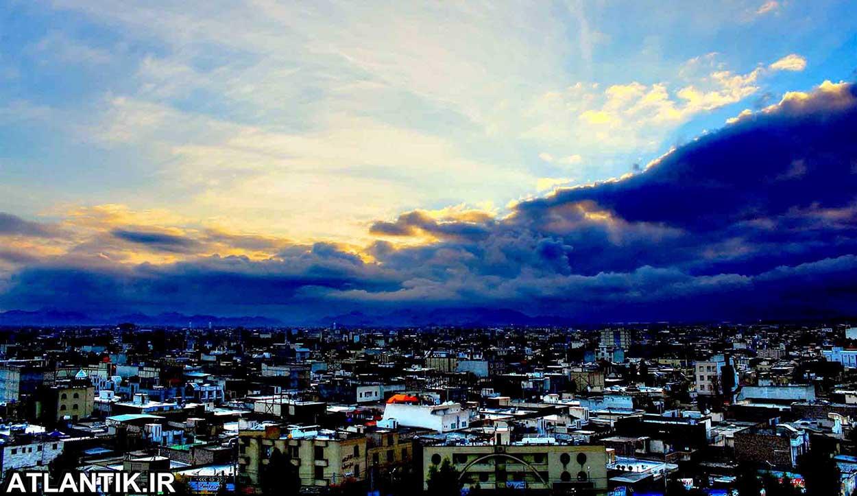 عکس هوایی از صبح طلایی زاهدان