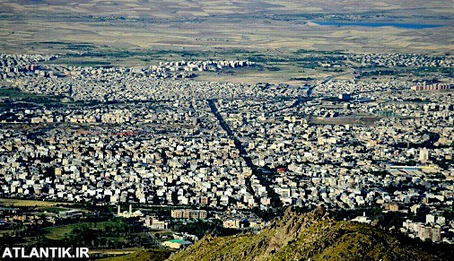 عکس هوایی روز شهر همدان