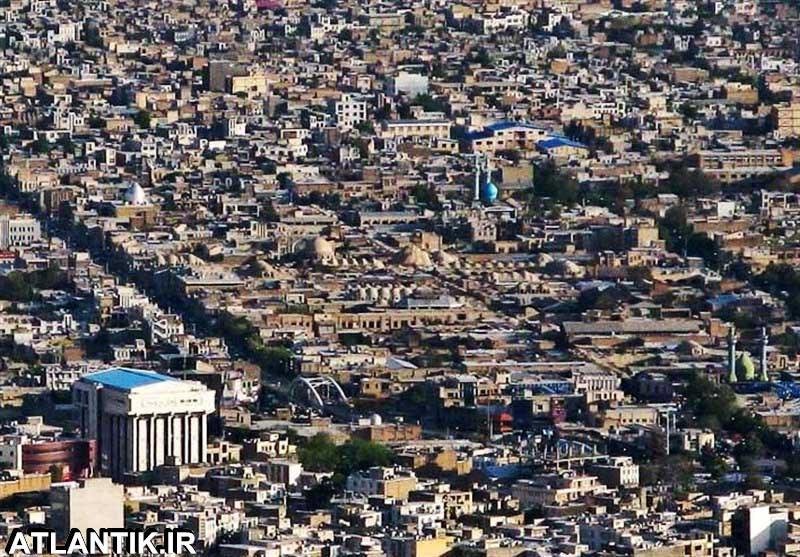 عکس هوایی شهر کرمانشاه
