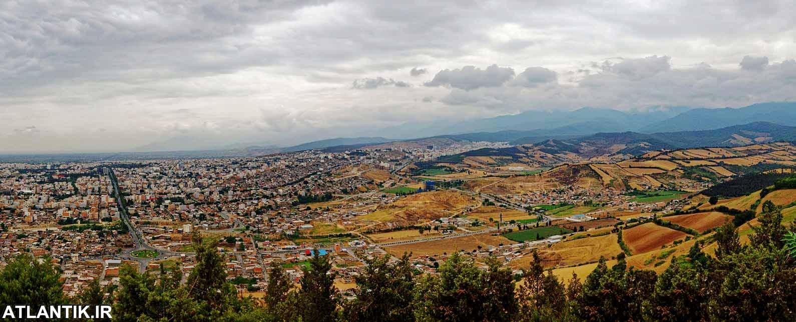 تصویر هوایی از روز گرگان