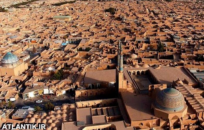 تصویر هوایی شهر یزد