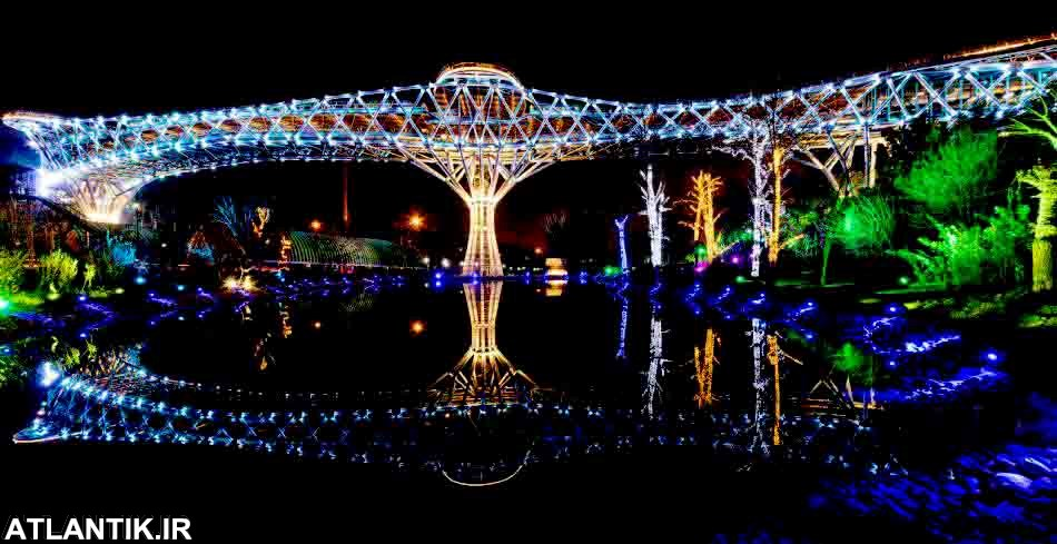پل طبیعت تهران، بزرگترین پل غیرخودرویی ایران، سومین نماد شهری پایتخت - گردشگری آتلانتیک