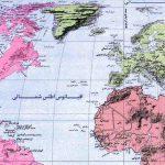 نقشه اقیانوس اطلس ( اقیانوس آتلانتیک)