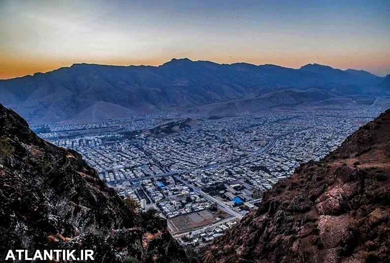دره ها و کوه های زیبای اطراف شهر خرم آباد لرستان