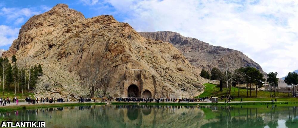 کتیبه های قدیمی شهر کرمانشاه طاق بستان