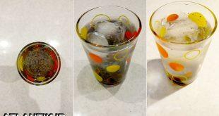 شربت بیدمشک با تخم شربتی و خاکشیر، بیدمشک و نبات، سایت آشپزی آتلانتیک
