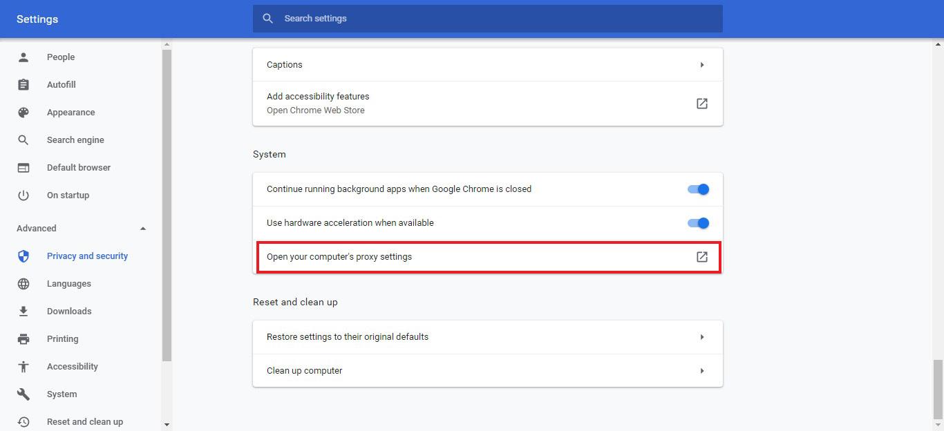 باز نشدن سایت ها و آموزش حذف تنظیمات پروکسی-نظیمات Proxy در مرورگر گوگل کروم- Disable your proxy