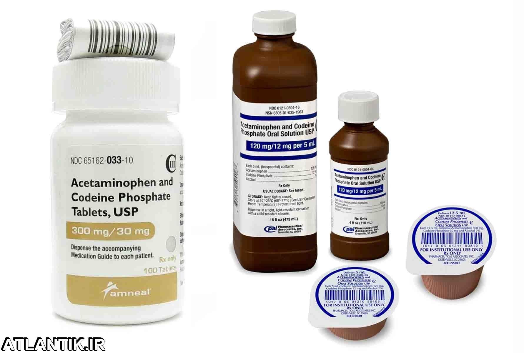 اتلانتيک-معرفي داروي ضد درد و تب استامینوفن کدئین – Acetaminophen Codein- داريابي-داروشناسي-علم دارو